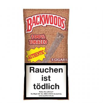 Backwoods Authentic (Aromatic) 5 Stück = Packung