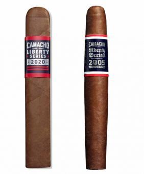 Camacho 2-er Set limitiert - Camacho Liberty Series 2020 - Gordo Box Pressed & Camacho Liberty Series Throwback 2005 2 Stück = einzeln verpackt in Holzkisten