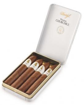 Davidoff Winston Churchill Short Cigars Belicoso 4 Stück = Metallbox (-3% CV24-Packungsrabatt)