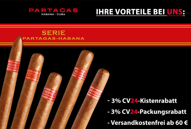 Partagas Serie 2.0 Vorteile bei Cigarrenversand24.de