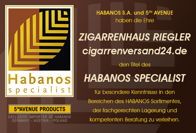 Habanos Specialist-Urkunde